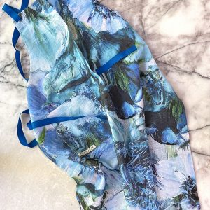 Botanical Ramie Blue Artichoke