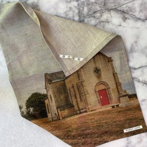 Sarlat Church Linen Tea Towel