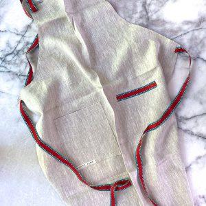 Sarlat Natural Linen Apron