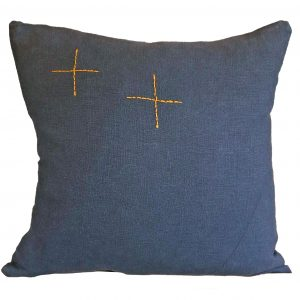 Hand Embroided Charcoal 2